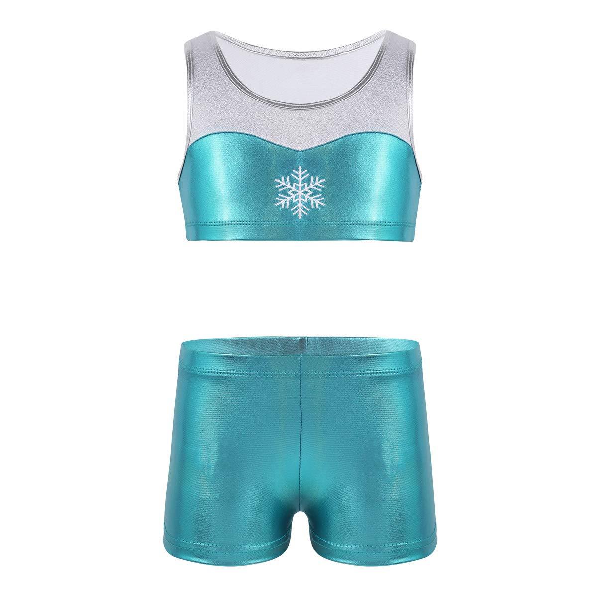 FEESHOW SOCKSHOSIERY ガールズ B07J4Y3HP9 12|Snowflake Blue Snowflake Blue 12