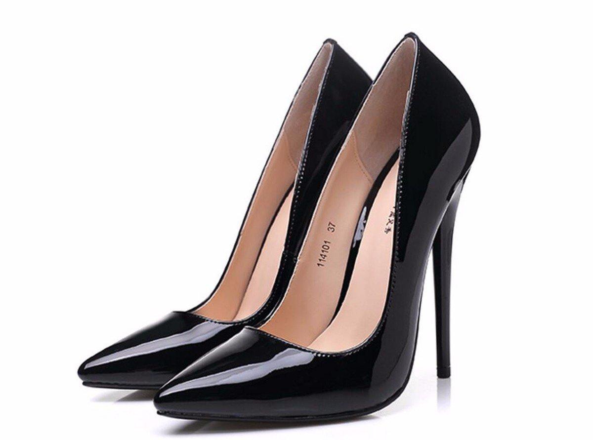 HBDLH Damenschuhe Sexy Schön Bei Fuß 14 cm Super Hochhackigen Schuhe Sagte Schuhe Lack - Haut Nachtclubs Spaß Damenschuhe Summer.