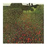 Posters: Gustav Klimt Poster Art Print - Field Of Poppies (20 x 16 inches)