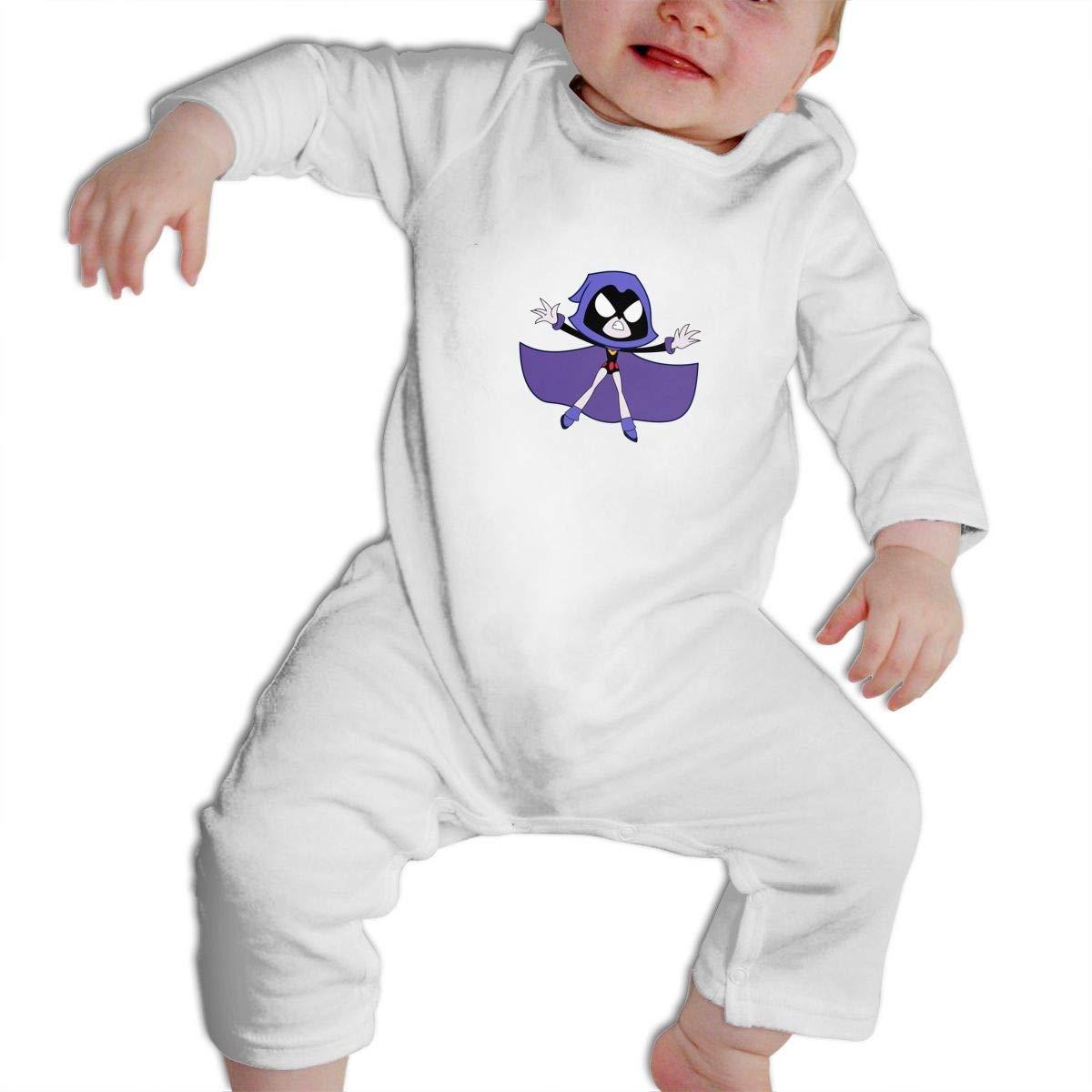 POOPEDD Teen Titans Go Unisex Baby Long Sleeve Onesies Baby Bodysuits