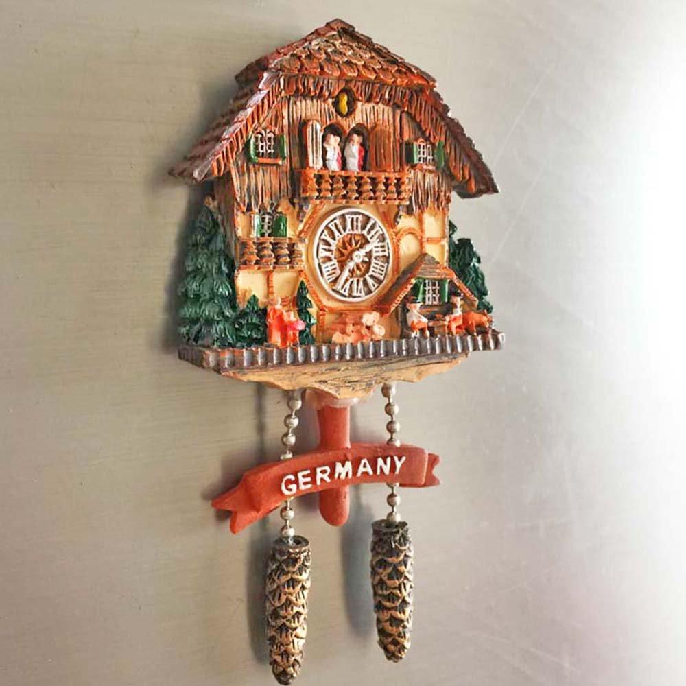 Wedare - Imán 3D para nevera con diseño de reloj de cuco alemán. Souvenir decorativo hecho en China.: Amazon.es: Hogar