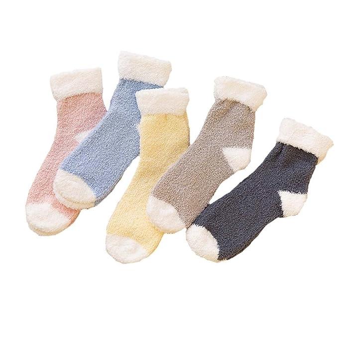 Fancy Pumpkin 5 pares calcetines calientes suaves dormir Fuzzy Calcetines Calcetines de invierno para la mujer, A: Amazon.es: Ropa y accesorios