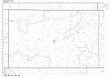 Amazon Com Cimarron County Oklahoma Ok Zip Code Map Not Laminated
