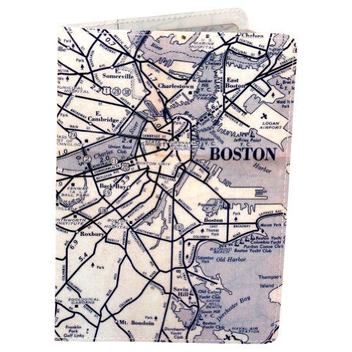 Boston Map Journal (Diary, Notebook) w/ Moleskine Cahier Pocket - Map Shopping Boston
