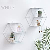 Diafrican - Estantería de Pared Hexagonal, decoración geométrica
