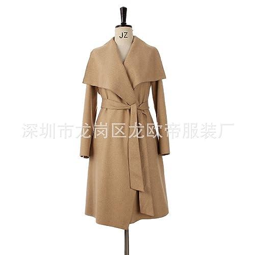 THWS Untar femenina chaqueta de felpa otoño dinero no solapa correa de hebilla