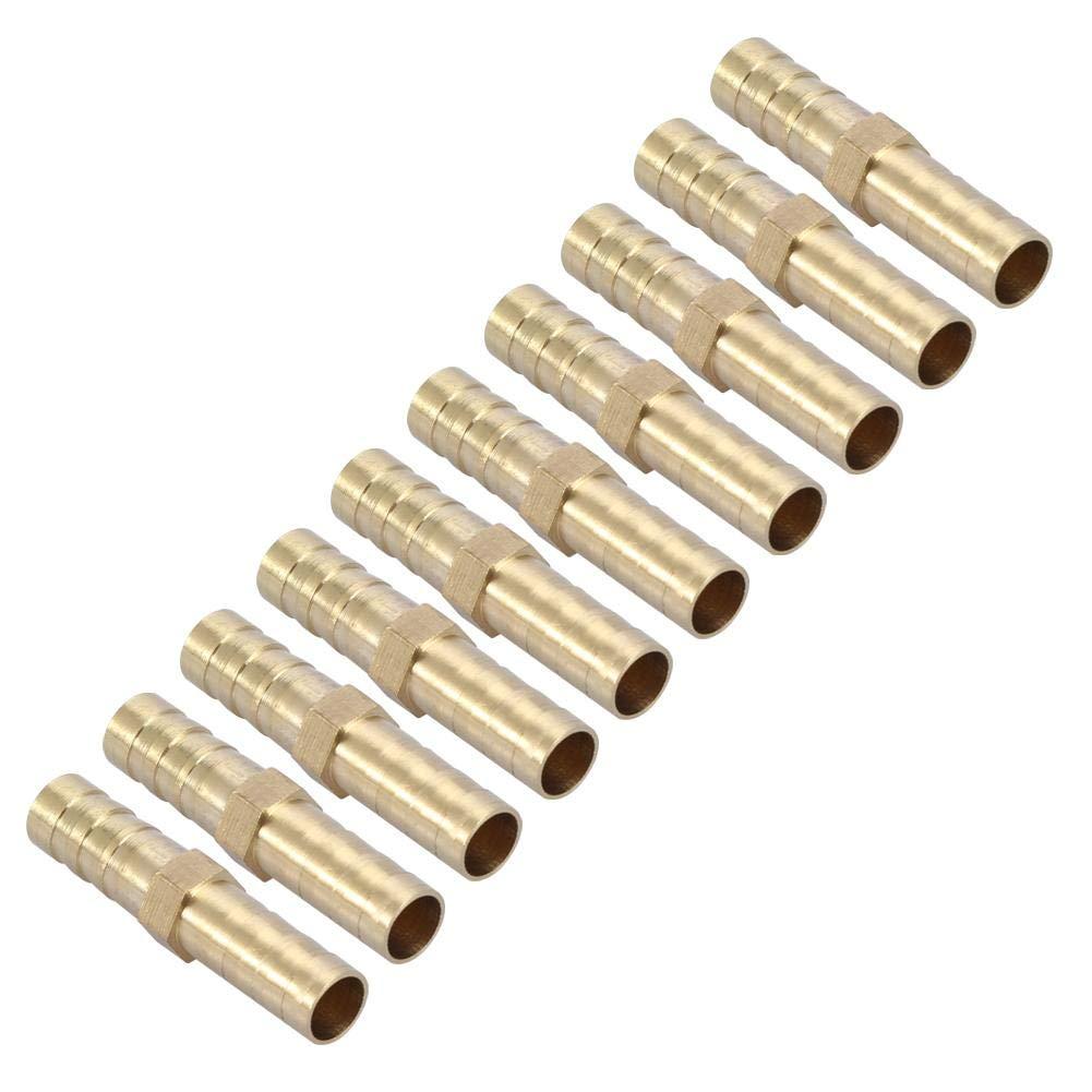 Conector de espiga recto Adaptador de tuber/ía Adaptador de uni/ón de tubo de espina de lat/ón de 2 v/ías de lat/ón recto 6//8//10//12//14//16 20mm 8mm 10pcs