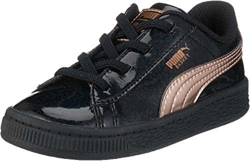 PUMA Basket Mirror AC Inf, Sneakers Basses bébé Fille