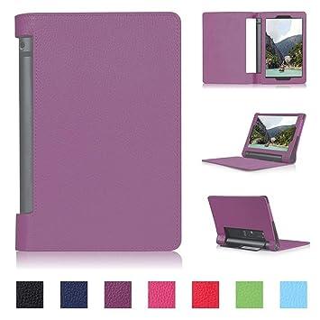DETUOSI Yoga Tab 3 X50F Tablet 10 Funda Cuero,PU Cuero ...