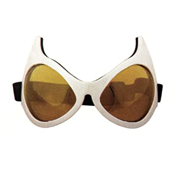 White Frames Cat Eye Goggles Superhero Cosplay Catwoman Batman Anime ...