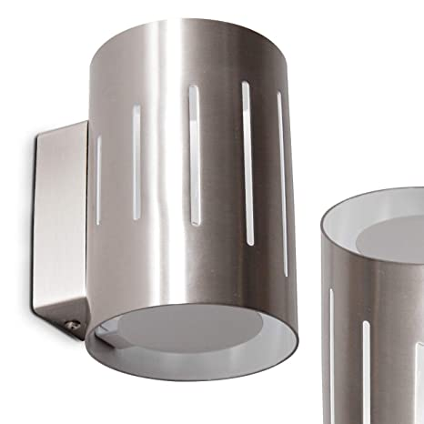 Aplique de pared Iluminación superior e Inferior Ø 10 cm- 2x ...