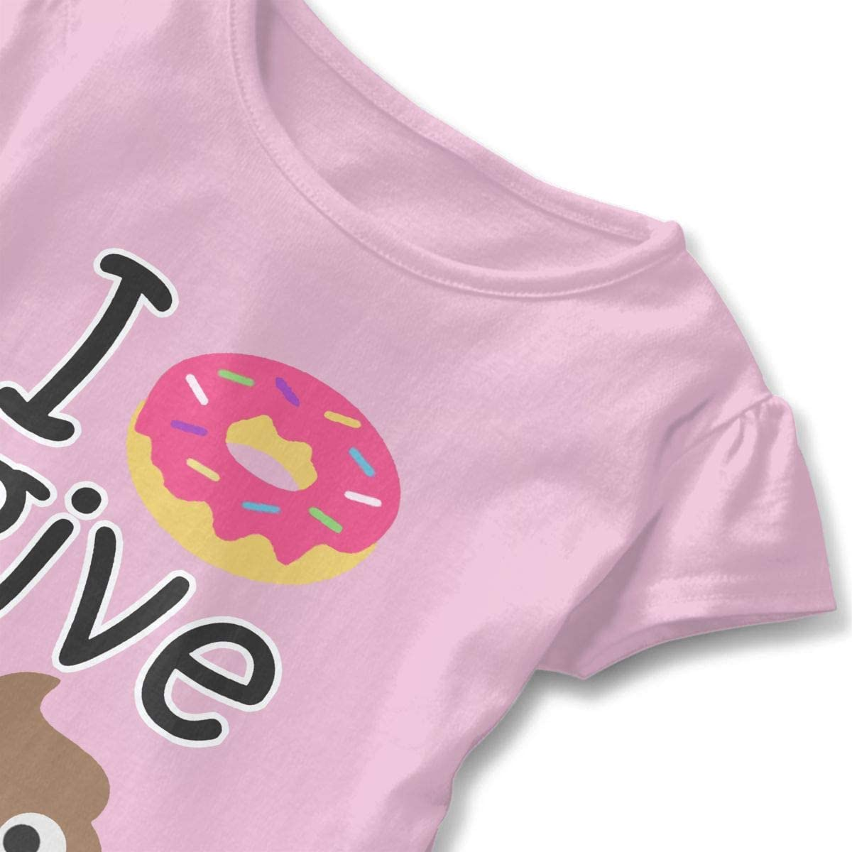 I Donut Give A Shit Baby Skirts Stylish Kids T Shirt Dress Short Sleeve Flounces Jumpsuit