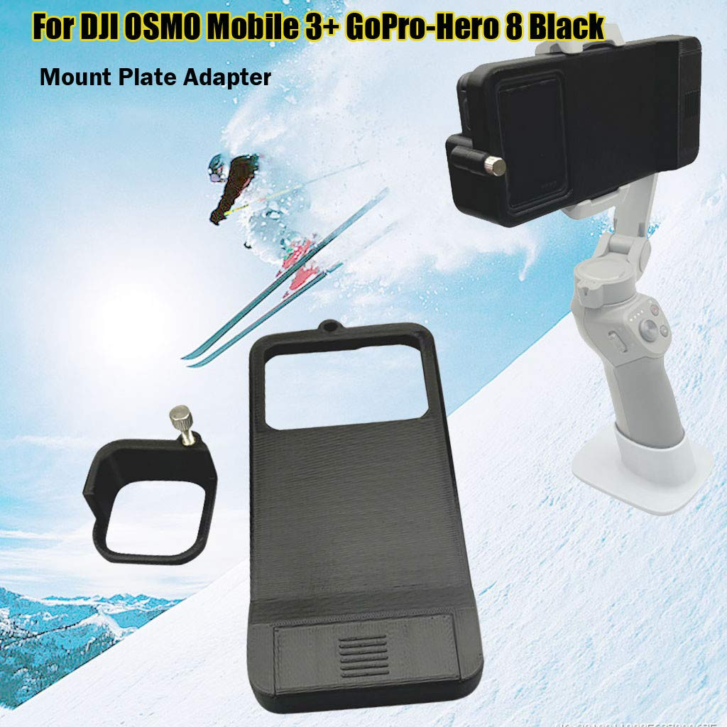 Sun Shade for DJI OSMO Mobile Black JSPOYOU for GoPro Hero 5 Adapter Switch Mount Plate