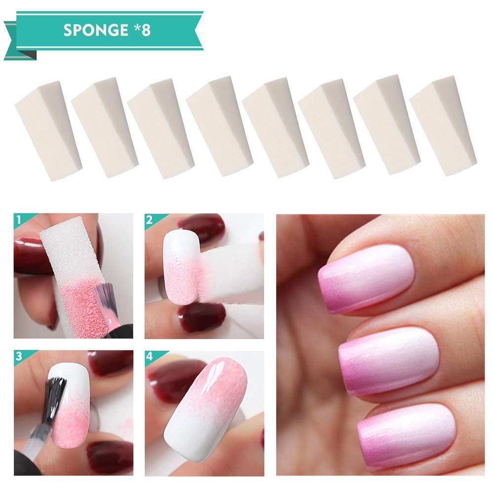 Amazon.com: AIFAIFA - Cinta adhesiva de colores para uñas ...