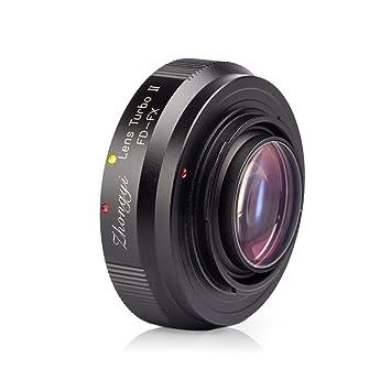 Zhongyi Lens Turbo adaptador de objetivo II adaptador de objetivos para Canon FD a Fujifilm X ...