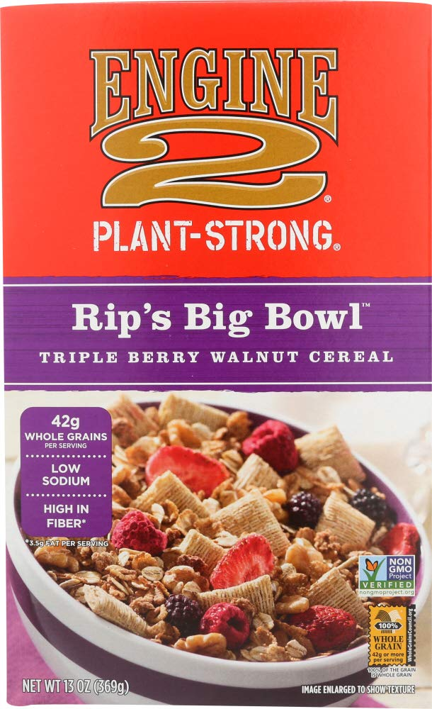 Engine 2, Rip's Big Bowl, Triple Berry Walnut Cereal, 13 oz