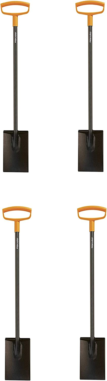 Fiskars 46 Inch Steel D-Handle Square Garden Spade (4-(Pack))
