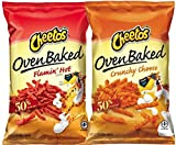 oven baked hot - Cheetos Oven Baked Flamin' Hot & Cheetos Oven Baked Crunchy Cheese Gluten Free Snacks 7.63 Oz (pack of 2)