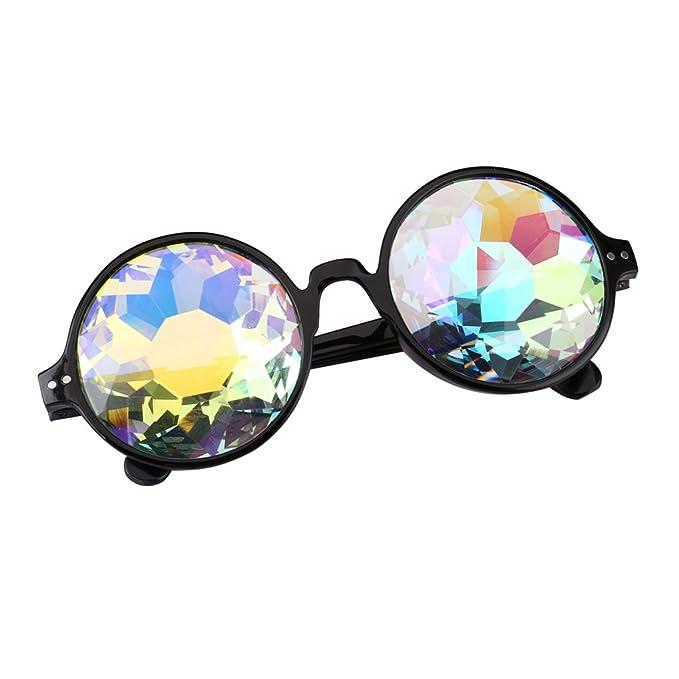 Amazon.com: Gafas de sol redondas de caleidoscopio con ...