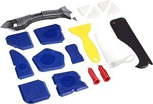 Amazon Basics Caulking Tool Kit with Silicone Sealant Finishing Tools, 18-Pieces
