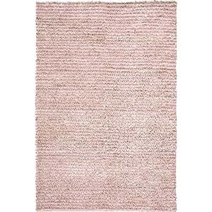 Safavieh Aspen Shag Collection SG640P Handmade Pink Wool & Hemp Area Rug (9' x 12')