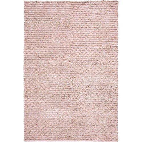 Safavieh Aspen Shag Collection SG640P Handmade Pink Wool & Hemp Area Rug (4' x 6') ()