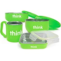 Thinkbaby Complete BPA Free Feeding Set (Light Green)