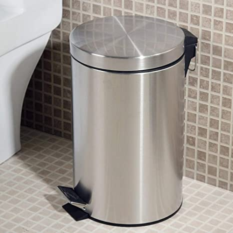 Wastebaskets Papelera de Acero Inoxidable para baño: Amazon ...