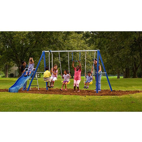 Flexible Flyer Swing Free Metal Swing Set by Flexible Flyer