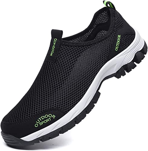 Summer Men/'s Mesh Slip On Shoes Breathable Outdoor Sneakers Shoes Walking Shoes