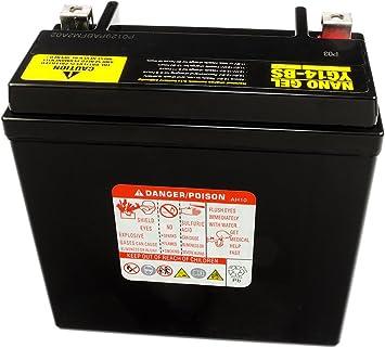 Moto Poweroad Gel Batterie ytx14-bs 14ah pour SUZUKI DL 1000 V-électricité DR 650