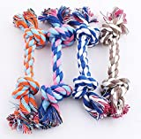 Ruikey Molar Teeth Rope Chew Toys for Puppy Dog Cotton 25cm Large