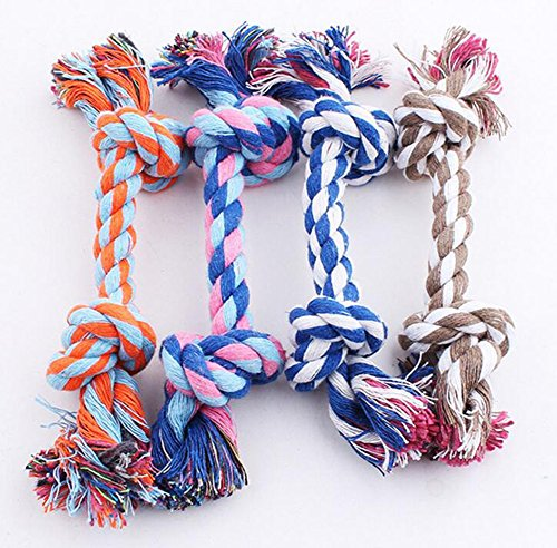 Ruikey Molar Teeth Rope Chew Toys for Puppy Dog Cotton 25cm Large by Ruikey