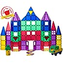 Playmags 118 Piece Set: With Strongest Magnets Guaranteed, Sturdy, Super Durable with Vivid Clear Color Tiles. 18 piece Clickins Accessories to Enhance your Creativity