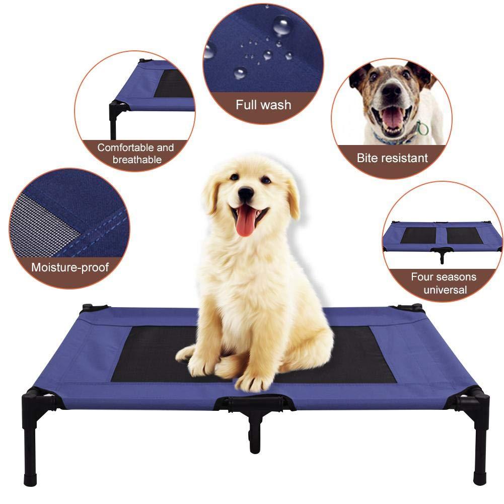 Enjoyyouselves Cama Elevada para Mascotas Cama Port/átil Tama/ño Extra Grande Respirable Lavable Ligero Durable Ideal para Camping o Playa al Aire Libre en Interiores