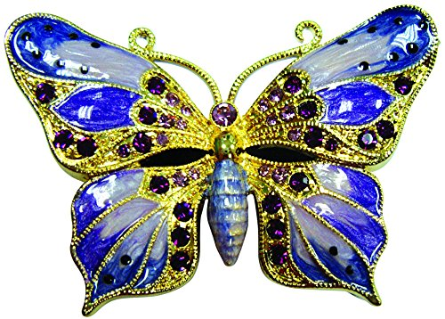 Cristiani Collezione Purple Butterfly Trinket Box ()