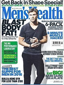 f6b4273575d Men s Health Magazine (January February 2016 - UK Edition - Cover  Chris  Hensworth) Single Issue Magazine – 1900