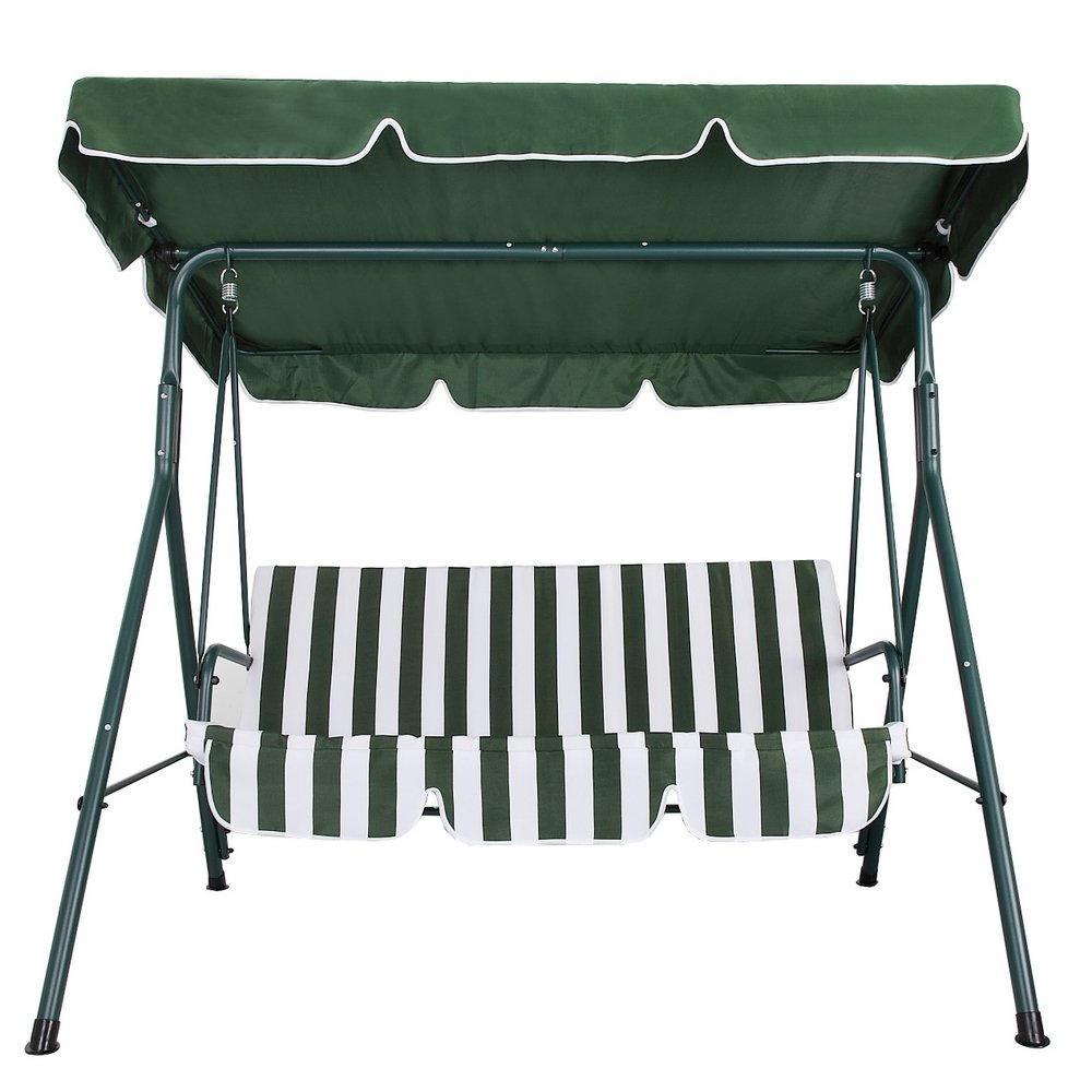 Amazon.com : Palm Springs Garden 3 Seater Hammock Cushioned Swing Chair  Outdoor Bench Seat : Garden U0026 Outdoor