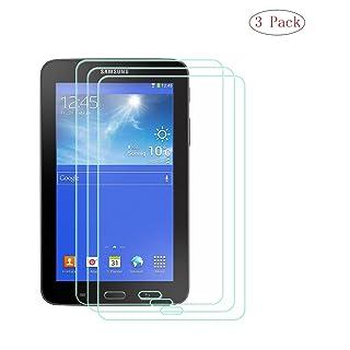 szjckj 3 Pezzi 9H Durezza Film Pellicola Vetro Temperato per Samsung Galaxy Tab 3 Lite 7.0' SM-T110, Pellicola Protettiva Protezione Anti-Graffo Schermo HD Screen Protector.