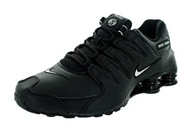 new products 3f3f0 734a7 Nike Men s Shox NZ Running Shoe Black White Black - 10 D(M