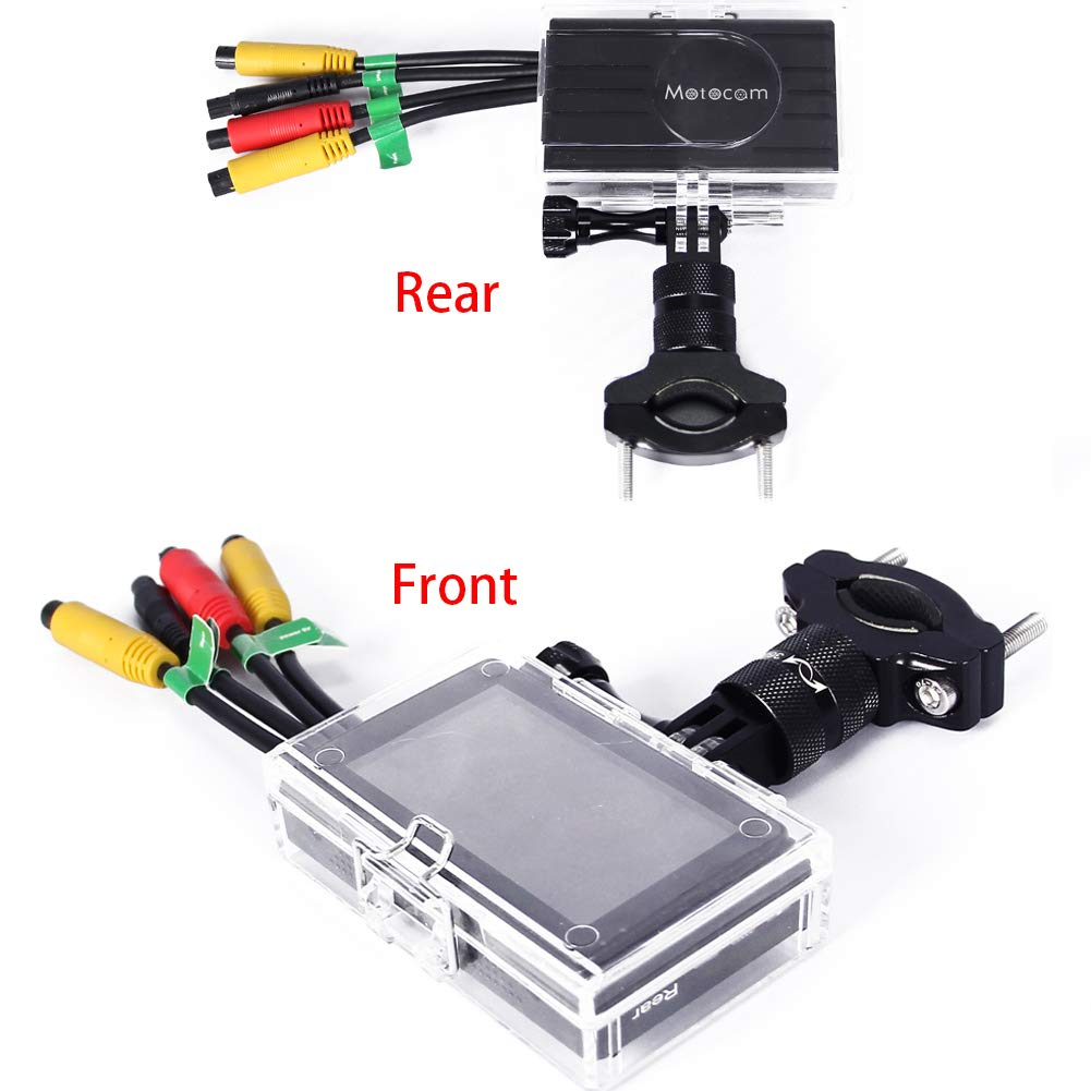"""Motorcycle DVR with WiFi Front and Rear Motorcycle Dual Camera M2 No Card Support 128G Card 3.0/""""Screen,140/°Wide-Angle Lens,Sony IMX323 Chip,1080P720P by MOTOCAM PRO Black"""