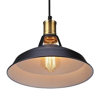 Métal Retro Suspensions Luminaires S G Industriel Edison Simplicité Lustre  Vintage Plafonnier Suspension avec Abat-jour f2cf9cabbcfb