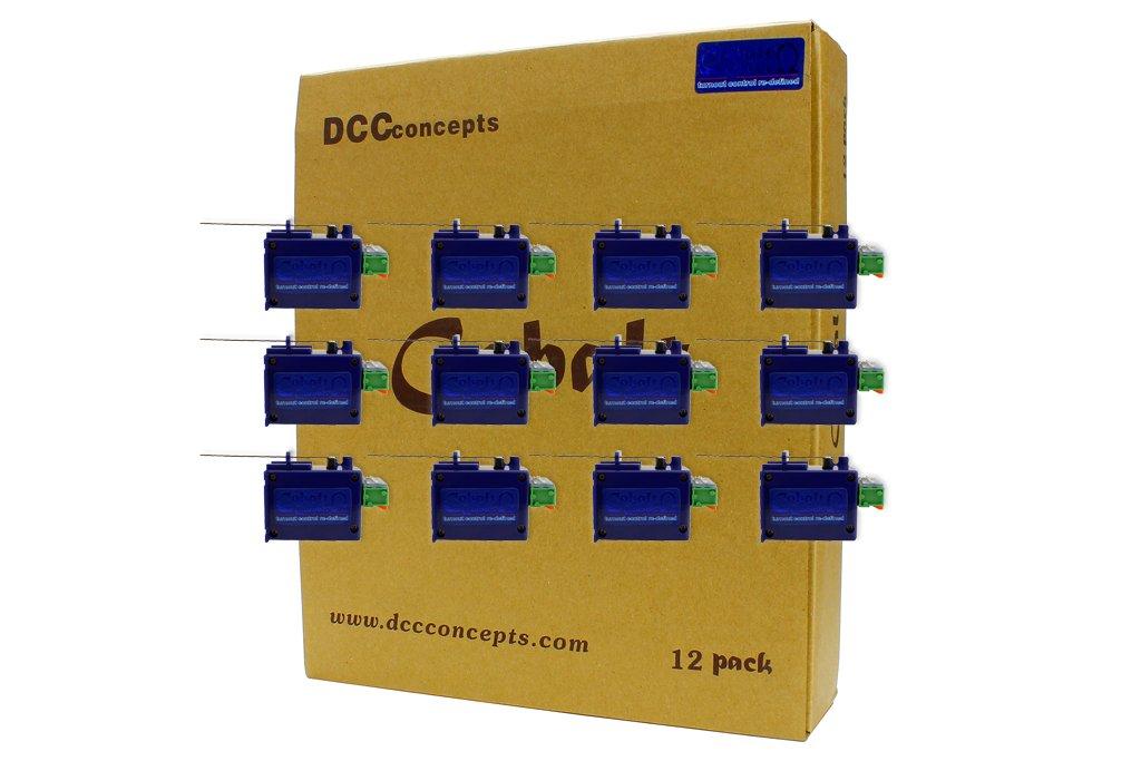 DCC Concepts CB12A COBALT Omega Classic Turnout Motors (12)
