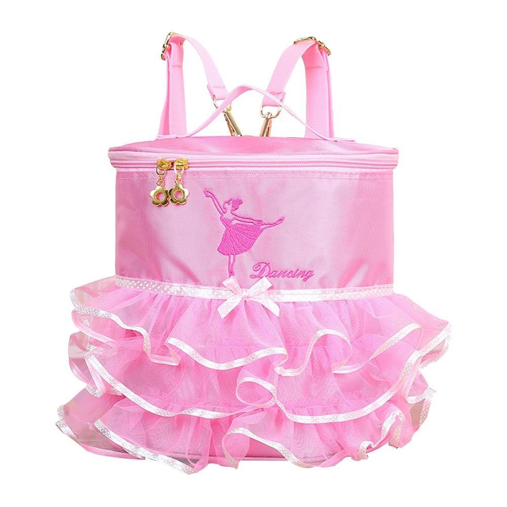 ガールズ バレエバックパック バレリーナ ピンセス チュチュドレス ダンスバッグ 刺繍付き  Princess Dance Bag B07H3VVW7K
