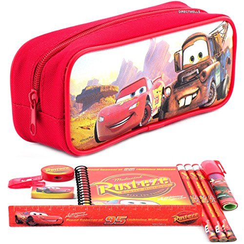 Disney Car Red Pencil Case and Stationery Set ()