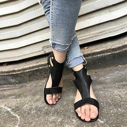 Base Remaches Esponja Negro Romanos Sandalias oras de Plana Boca Hei Zapatos se Sandalias Mujeres Zha con Pescado Sandalias Zapatos de Sandalias Zapatos Ba Verano de Las Mujer Una Planos TTfpqvwx4
