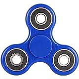 Lalang Spinner Jouet Tri Fidget Hand Spinner Pour Adultes Enfant (Bleu)