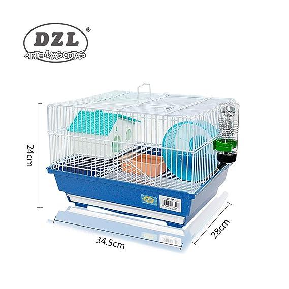 DI ZE LIN PET HOME S.L DZL® Jaula para Hamster 34.5 * 28 * 25cm, con comedero Bebedero Rueda caseta y Bandeja extraíble. (Morado): Amazon.es: Productos para ...
