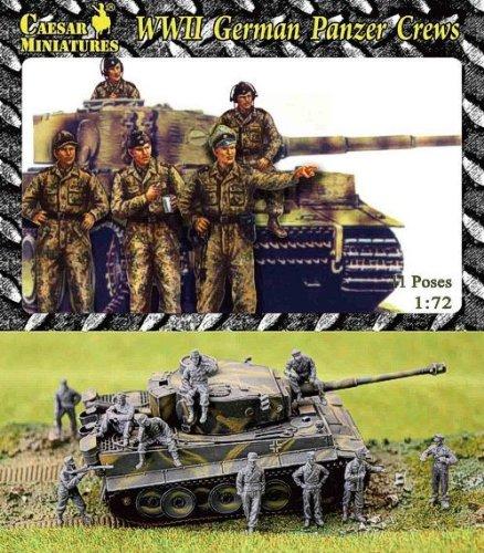 Kit de modelismo Unbekannt Caesar Miniatures HB03 WWII German Panzer Crews