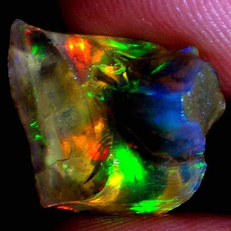 Cts 3 Natural Ethiopian Rainbow Fire Opal Cabochon Pear shape Beautiful Making Jewelry k6